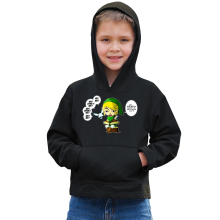 Sweat à capuche Enfant  parodique Link et la Fée Navi : Une fée pratique mais agaçante... (Parodie )