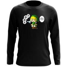 T-Shirt à manches longues  parodique Link et la Fée Navi : Une fée pratique mais agaçante... (Parodie )