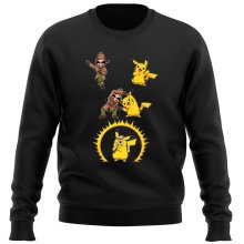 Funny Sweatshirts - Pikachu and Sherlock Holmes ( Parody)