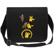 Funny Canvas Messenger Bag - Pikachu and Sherlock Holmes ( Parody)