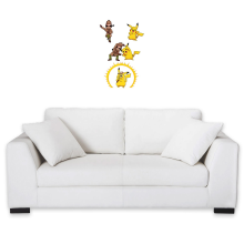 Funny Wall Pediments - Pikachu and Sherlock Holmes ( Parody)