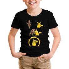 T-shirt Enfant  parodique Pikachu et Sherlock Holmes aka Détective Pikachu : Une Fusion élémentaire... :) (Parodie )