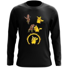 Funny Long Sleeve Top - Pikachu and Sherlock Holmes ( Parody)