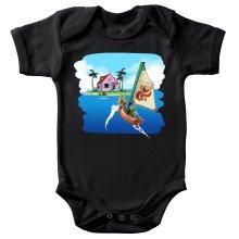 Body bébé  parodique La Kame House et Link : Une île perdue... (Parodie )