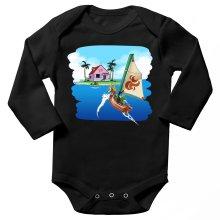 Body bébé manches longues  parodique La Kame House et Link : Une île perdue... (Parodie )