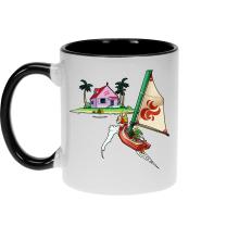 Mugs  parodique Link et la Kame House de Tortue Géniale : Une île perdue dans l