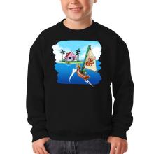 Pull Enfant  parodique La Kame House et Link : Une île perdue... (Parodie )