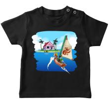 T-shirt bébé  parodique La Kame House et Link : Une île perdue... (Parodie )