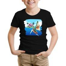 T-shirt Enfant  parodique La Kame House et Link : Une île perdue... (Parodie )