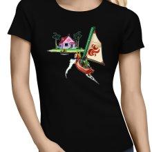 T-shirts Femmes  parodique Link et la Kame House de Tortue Géniale : Une île perdue dans l