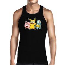 Débardeurs  parodique Bob, Carlo et Patrick cosplayés en Pikachu, Carapuce et Rondoudou : Une troupe de joyeux Cosplayers :) (Parodie )