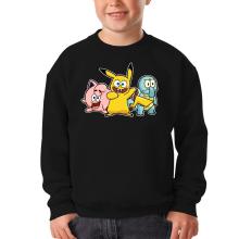 Sweat-shirts  parodique Bob, Carlo et Patrick cosplayés en Pikachu, Carapuce et Rondoudou : Une troupe de joyeux Cosplayers :) (Parodie )