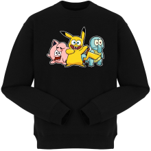 Pulls  parodique Bob, Carlo et Patrick cosplayés en Pikachu, Carapuce et Rondoudou : Une troupe de joyeux Cosplayers :) (Parodie )