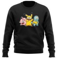 Pull  parodique Bob, Carlo et Patrick cosplayés en Pikachu, Carapuce et Rondoudou : Une troupe de joyeux Cosplayers :) (Parodie )
