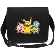 Sacs bandoulière Canvas  parodique Bob, Carlo et Patrick cosplayés en Pikachu, Carapuce et Rondoudou : Une troupe de joyeux Cosplayers :) (Parodie )