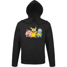 Sweat à capuche  parodique Bob, Carlo et Patrick cosplayés en Pikachu, Carapuce et Rondoudou : Une troupe de joyeux Cosplayers :) (Parodie )