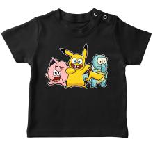 T-shirts  parodique Bob, Carlo et Patrick cosplayés en Pikachu, Carapuce et Rondoudou : Une troupe de joyeux Cosplayers :) (Parodie )