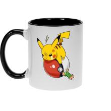 Funny Mug - Pikachu and Ash ( Parody)