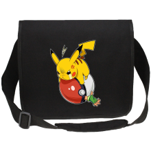 Funny Canvas Messenger Bags - Pikachu and Ash ( Parody)