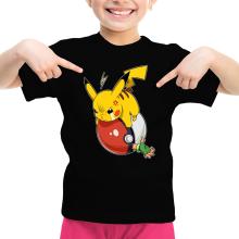 Funny Girls Kids T-shirt - Pikachu and Ash ( Parody)