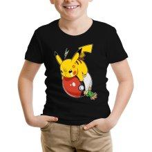 Funny Kids T-Shirt - Pikachu and Ash ( Parody)