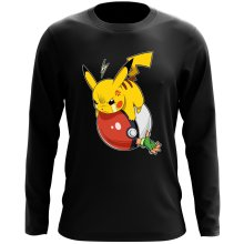 Funny Long Sleeve Tops - Pikachu and Ash ( Parody)