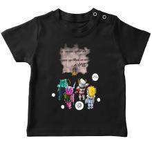 T-shirt bébé  parodique Seiya, Shiryu, Hyoga et Shun dans la maison d