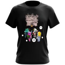 T-shirt  parodique Seiya, Shiryu, Hyoga et Shun dans la maison d