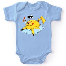 Body bébé  parodique Pikachu : Batterie déchargée :) (Parodie )