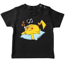 T-shirt bébé  parodique Pikachu : Batterie déchargée :) (Parodie )