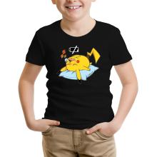 T-shirt Enfant  parodique Pikachu : Batterie déchargée :) (Parodie )