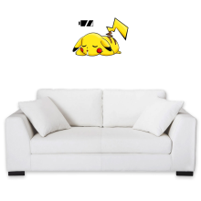 Sticker Mural  parodique Pikachu : Batterie à plat ! (Parodie )