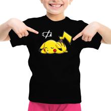 T-shirt Enfant Fille  parodique Pikachu : Batterie à plat ! (Parodie )