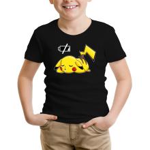 T-shirt Enfant  parodique Pikachu : Batterie à plat ! (Parodie )