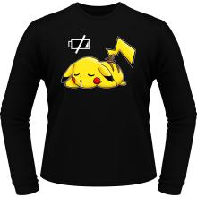 T-Shirts à manches longues  parodique Pikachu : Batterie à plat ! (Parodie )