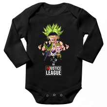 Body bébé manches longues  parodique Broly, Cell, Freezer et Super Bou : DB INjustice League ! (Parodie )