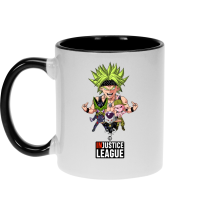 Mug  parodique Broly, Cell, Freezer et Super Bou : DB INjustice League ! (Parodie )