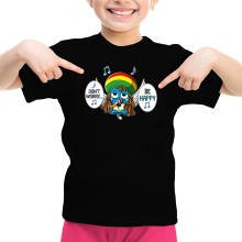 T-shirt Enfant Fille  parodique Happy : Happy Bobby (Parodie )