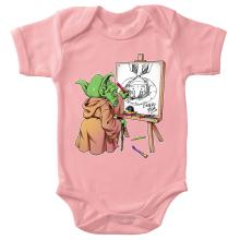 Body bébé (Filles)  parodique Eiichiro Yoda dessinant Luffy... à l