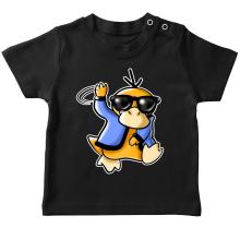 T-shirt bébé  parodique Psykokwak réalisant le Gangnam Style : Gangduck Style by Psyko :) (Parodie )
