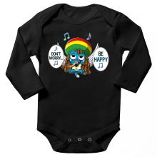 Body bébé manches longues  parodique Happy : Happy Bobby (Parodie )