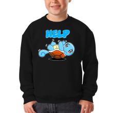 Pull Enfant  parodique Carapuce : Help !!! (Parodie )