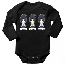 Body bébé manches longues  parodique Sasuke Uchiwa : L
