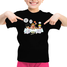 T-shirt Enfant Fille  parodique Naruto, Sangoku et Luffy : La recette d