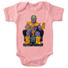 Body bébé (Filles)  parodique Thanos de Avengers et Beerus de Dragon Ball Super : Le Dieu de la destruction... et son chat ! (Parodie )