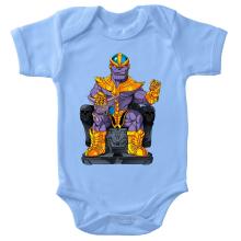 Body bébé  parodique Thanos de Avengers et Beerus de Dragon Ball Super : Le Dieu de la destruction... et son chat ! (Parodie )