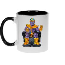 Mug  parodique Thanos de Avengers et Beerus de Dragon Ball Super : Le Dieu de la destruction... et son chat ! (Parodie )