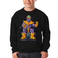 Sweat-shirts  parodique Thanos de Avengers et Beerus de Dragon Ball Super : Le Dieu de la destruction... et son chat ! (Parodie )
