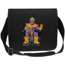 Sac bandoulière Canvas  parodique Thanos de Avengers et Beerus de Dragon Ball Super : Le Dieu de la destruction... et son chat ! (Parodie )