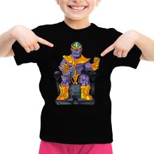 T-shirts  parodique Thanos de Avengers et Beerus de Dragon Ball Super : Le Dieu de la destruction... et son chat ! (Parodie )